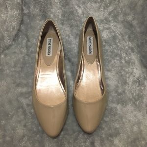 Steve Madden Patent Leather Nude Flats
